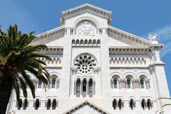 蒙特卡洛,摩纳哥- 4月19;圣尼古拉斯大教堂在Mo 免版税库存图片