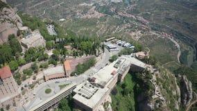 蒙特塞拉特修道院修道院寄生虫视图  股票录像