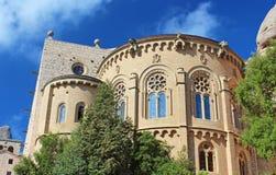 蒙特塞拉特修道院是一个美丽的本尼迪克特的修道院在巴塞罗那附近 免版税库存图片