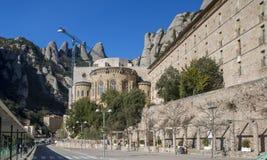 蒙特塞拉特修道院西班牙卡塔龙尼亚 免版税图库摄影