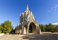 蒙特塞拉特圣所在蒙特费里,塔拉贡纳,卡塔龙尼亚 图库摄影