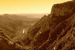 蒙特塞拉特山观点,西班牙 库存图片