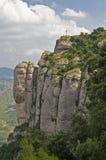 蒙特塞拉特岛山岩石 图库摄影