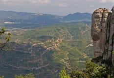 蒙特塞拉特岛山岩石 免版税图库摄影