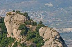 蒙特塞拉特岛山景 免版税图库摄影