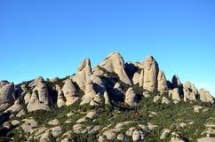 蒙特塞拉特,卡塔龙尼亚,西班牙山  免版税图库摄影