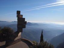 从蒙特塞拉特,卡塔龙尼亚,西班牙的看法 免版税图库摄影