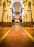 蒙特普齐亚诺大教堂内部  免版税库存照片