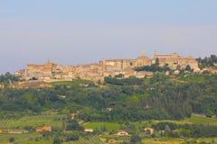 蒙特普齐亚诺,意大利,托斯卡纳 免版税库存图片