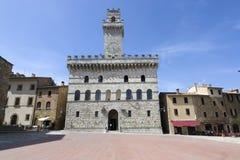 蒙特普齐亚诺,意大利Palazzo  免版税库存照片