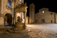 蒙特普齐亚诺,意大利Palazzo  库存图片
