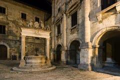 蒙特普齐亚诺Palazzo  图库摄影