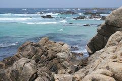 蒙特里海洋和平的岸 图库摄影