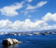 蒙特里的加利福尼亚小游艇船坞 免版税图库摄影