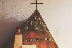 蒙特雷,新莱昂州/MEICO - 01 02 2017年:大教堂de瓜达卢佩河 免版税库存图片
