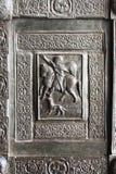 蒙雷阿莱,古老诺曼底大教堂,细节 免版税库存图片