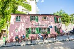 蒙马特地区在巴黎,法国 库存照片