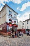 蒙马特地区是在多数普遍的目的地中在巴黎法国 免版税图库摄影