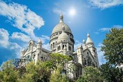 蒙马特大教堂巴黎 免版税库存照片