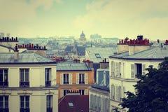 巴黎从蒙马特的地平线天线 库存图片
