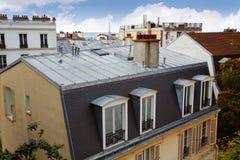 巴黎从蒙马特的地平线天线 免版税库存图片