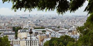 巴黎从蒙马特的地平线天线 免版税库存照片