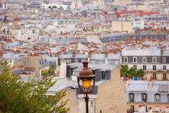 巴黎从蒙马特的地平线天线 免版税图库摄影