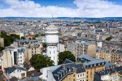 巴黎从蒙马特的地平线天线 库存照片