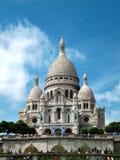 蒙马特的,巴黎Sacré Cœur大教堂 库存照片