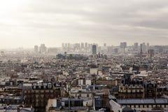 从蒙马特的巴黎 库存照片