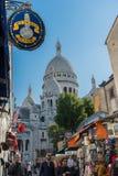 蒙马特,巴黎的耶稣圣心 免版税图库摄影