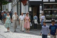 蒙绍在有游人的德国 免版税库存照片