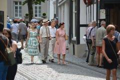 蒙绍在有游人的德国 免版税图库摄影