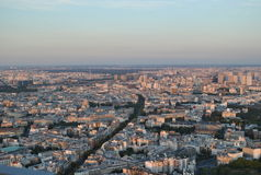 从蒙巴纳斯的顶端被看见的巴黎 免版税库存图片