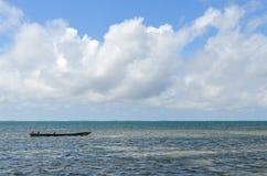 从蒙巴萨海滩,蒙巴萨,肯尼亚,非洲的印度洋 图库摄影