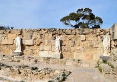 蒜味咸腊肠废墟,塞浦路斯 免版税库存图片