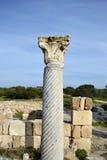 蒜味咸腊肠废墟,塞浦路斯 免版税库存照片