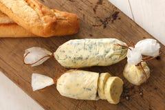 蒜味面包化合物黄油草本长方形宝石麝香草迷迭香香菜牛至 库存图片