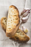 蒜味面包多士 库存照片