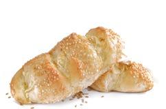 蒜味面包用芝麻 免版税库存照片