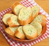 蒜味面包长方形宝石 免版税库存照片