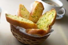 蒜味面包 图库摄影
