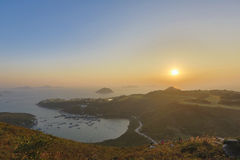 蒲台岛O在早晨 免版税图库摄影