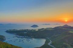 蒲台岛O在早晨 库存图片