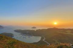 蒲台岛O在早晨 免版税库存图片