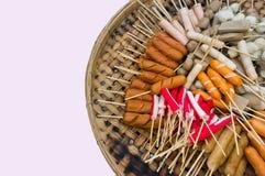 蒸汽丸子泰国街道食物 图库摄影