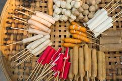蒸汽丸子泰国街道食物 免版税库存图片