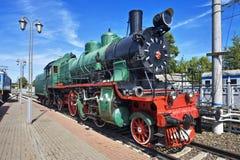 蒸汽培训苏联 免版税库存照片