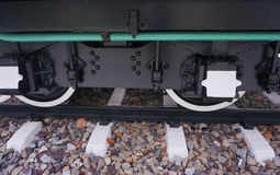 蒸汽培训轮子 库存图片