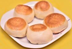 蒸汽小圆面包 图库摄影